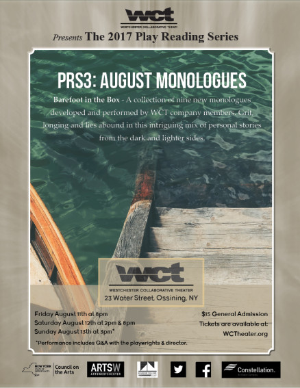 Poster WCT August Monologues