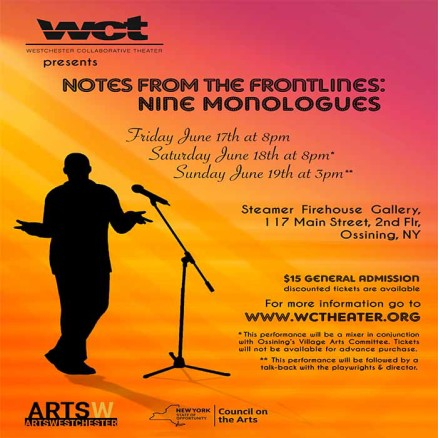 WCT Art for June 2016 Notes from the Frontlines- Nine Monologues