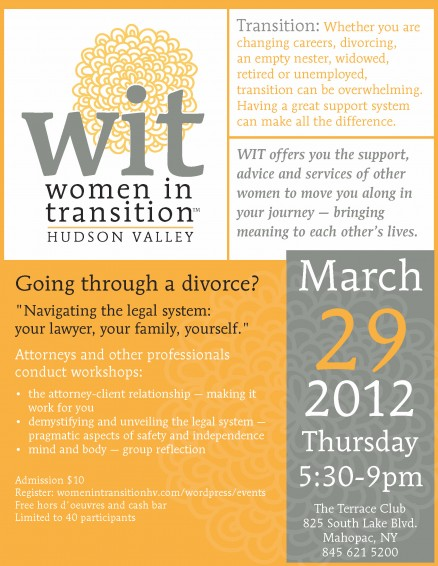 Women in Transition Flyer for Spring